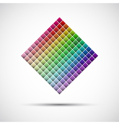 Color palette isolated on white background vector