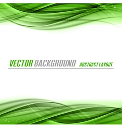 abstract green white center vector image