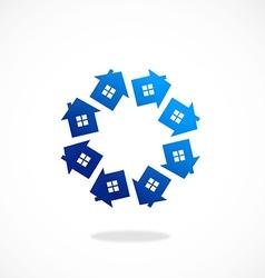 Circular home realty abstract logo vector