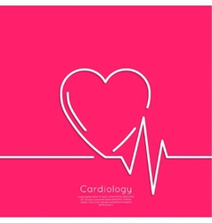 Cardiogram with heart vector