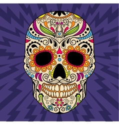 Mexican skull the original pattern vector