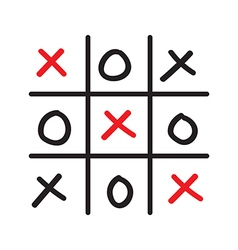 Hand drawn tic tac toe competition vector