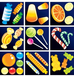 of sweet goodies set vector image