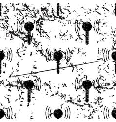 Signal beacon pattern grunge monochrome vector