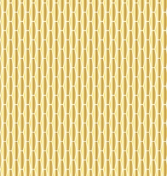 Gold elongated hexagon pattern vector