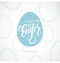 Happy Easter Egg Lettering Poster vector image
