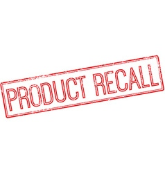 Product recall red rubber stamp on white vector