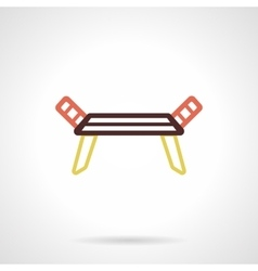 Dryer rack flat color design icon vector