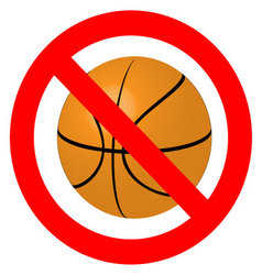 Prohibition to play with the ball basketball vector