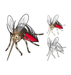 Mosquito Cartoon Character vector image