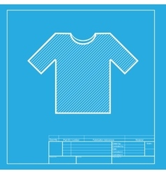 T-shirt sign  white section of icon vector