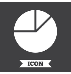 Pie chart graph sign icon diagram button vector