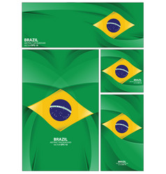 Abstract brazil flag background vector