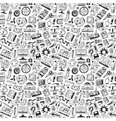 art tools school - seamless background vector image vector image