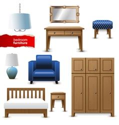 Bedroom furniture vector