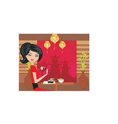 Cartoon female design vector image