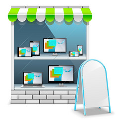 Computer Store vector image