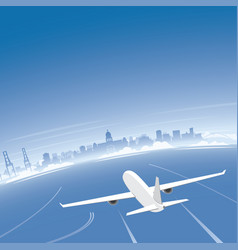 durban skyline flight destination vector image vector image