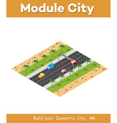 Expressway with cars vector