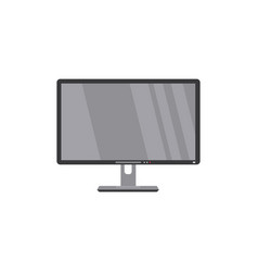 flat screen lcd widescreen tv television hdtv vector image