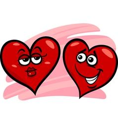 hearts in love cartoon vector image vector image