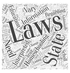 is homeschooling legal dlvy nicheblowercom Word vector image