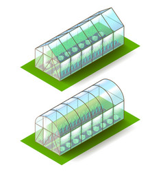Isometric greenhouse isolated on white vector