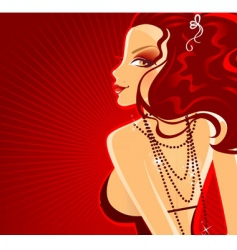 lady in red dress banner vector image vector image