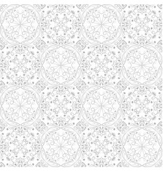 low contrasting vintage ornament gray drawing on vector image vector image