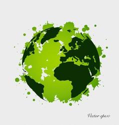 Modern green globe vector image vector image