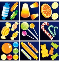 of sweet goodies set vector image
