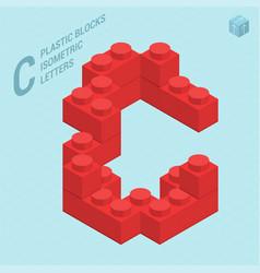 plastic blocs letter c vector image vector image