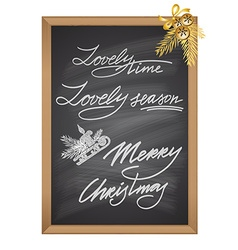 Set of Christmas and New Year decorative text vector image
