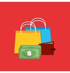 Shopping gift box money vector