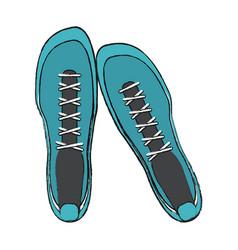 sport sneakers footwear vector image
