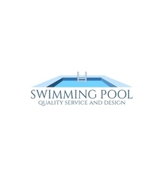 Swimming pool logo vector image vector image
