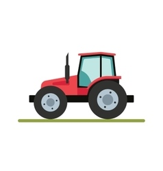 Tractor isolated on white background Flat vector image vector image