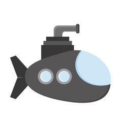 Small submarine icon vector