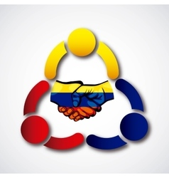 Colombian peace agreement symbol vector