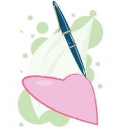 Pen-write-love vector