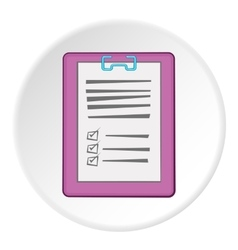 Diagnosis on paper icon cartoon style vector