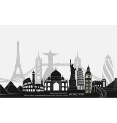Landmark world bookmark for travel vector