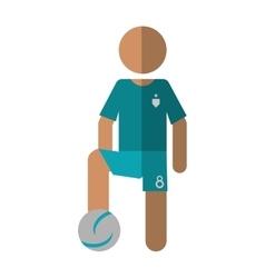 character player soccer football green uniform vector image