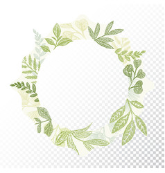 hand drawn circle flaral frame vector image