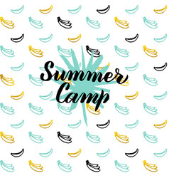 Summer camp postcard design vector