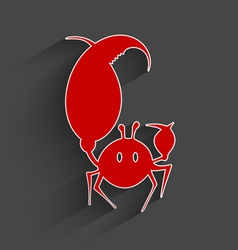 Red paper crab vector
