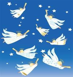 Christmas angels vector