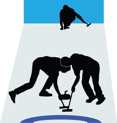 Curling sport vector