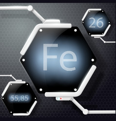 Chemical element iron vector