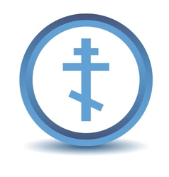 Blue orthodoxy icon vector